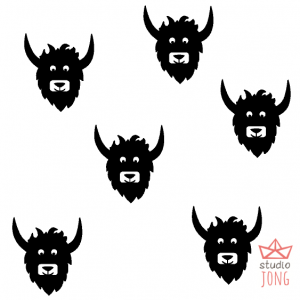 Yak wall stickers (various colors)