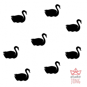 Swans wall stickers (various colors)