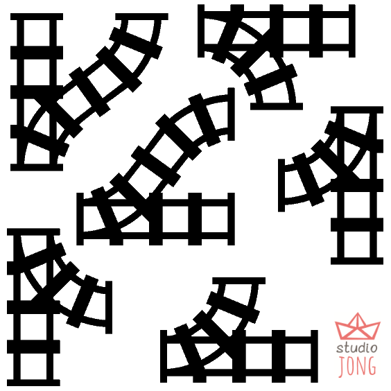 Sticky Rails (muur)stickers